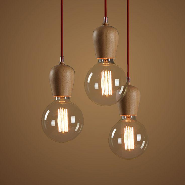 Cheap moderna iluminaci n pendiente vintage para cocina - Lampara de techo de madera ...