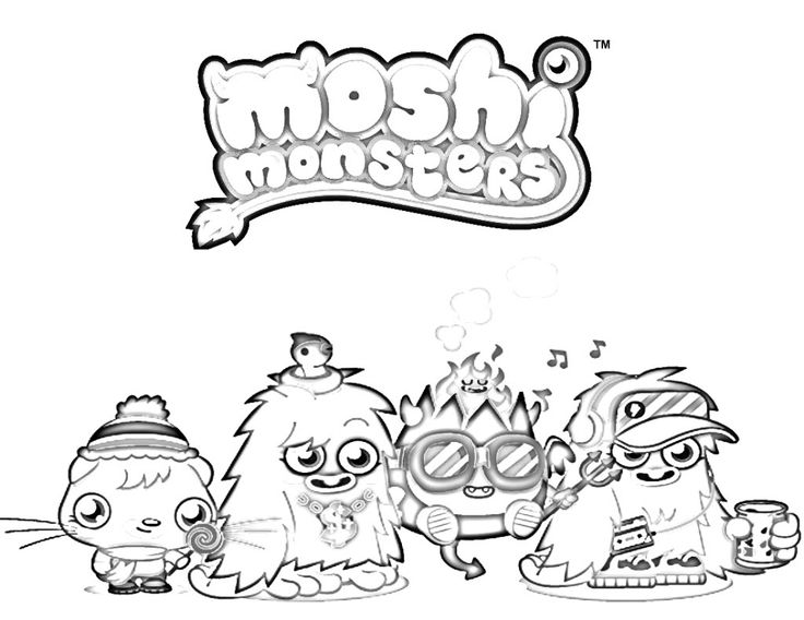 Download Printable Moshi Monsters Moshlings Colouring Pages