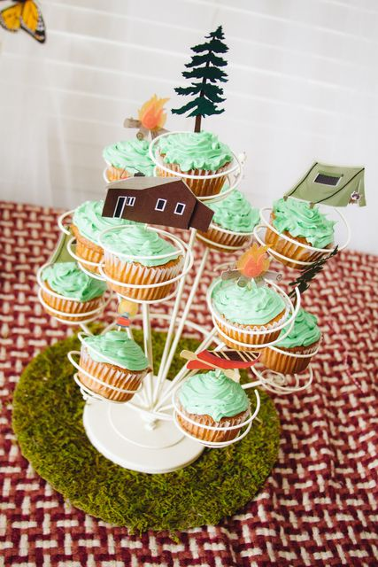 happy campers baby shower party ideas baby showers cupcake and