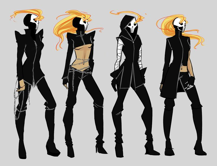 by aicosu: I'm so in love with the new Ghost Rider series with Robbie Reyes. But I couldn't stop thinking about what a woman ghost rider would look like — all modern with FIRE HAIR.