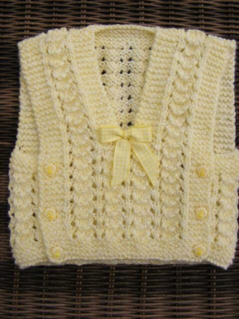 Baby vest - Lace - Closures on both sides, v-neck