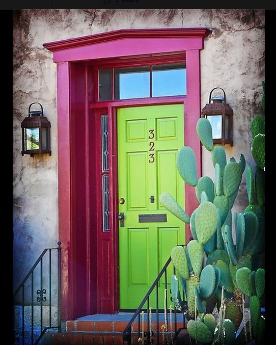 happy: Green Doors, Idea, Dream, Colors, Coloured Doors, Colored Doors, House, Tucson Color