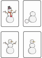 Sekvensbilder - hur man bygger en snögubbe