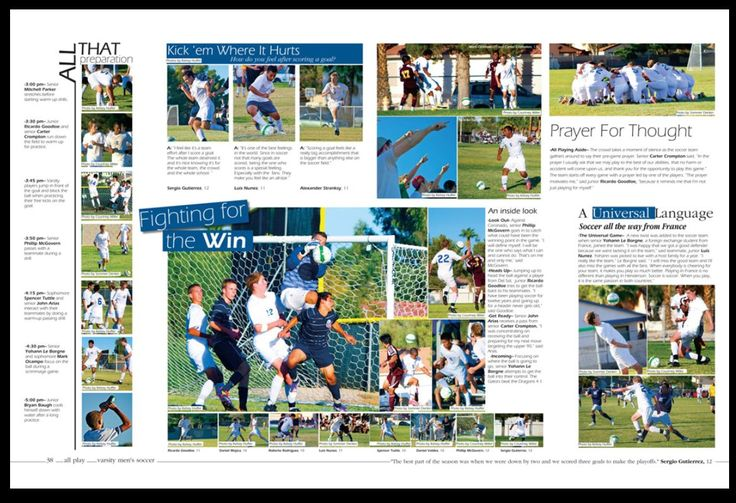 I really like this spread for a sports page, I think the modules look really good laid out this wayy #SemiYB #September