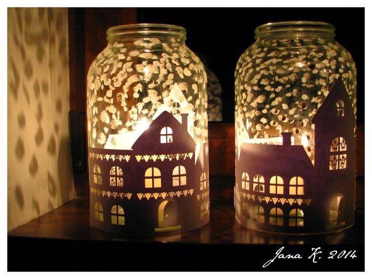 Zimní lampičky za okno