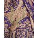 Stola in seta indiana doublefaces rosa pallidissimo, violetto e verde giada - Scialli, Sciarpe e Stole Orientali in Seta - Sciarpe e Borse Etniche - Diwali Store