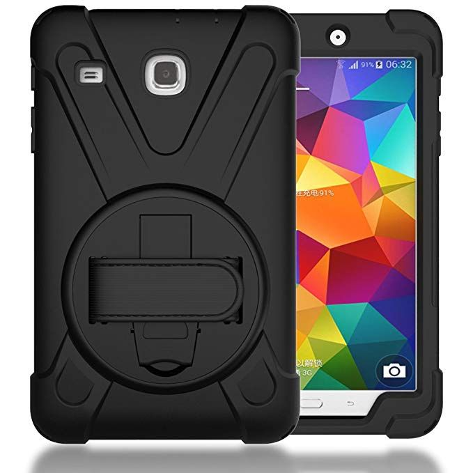 Timisam Samsung Galaxy Tab E 8 0 Case Heavy Duty Hybrid Shockproof Protection Cover Built With Kickstand And H Samsung Galaxy Tab Tablet Case Protective Cases