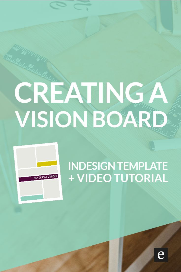 Creating A Vision Board (For Your Next Creative Project) + An InDesign Template | Finding inspiration for your next project is a great opportunity to explore creative possibilities. Click through for a free InDesign template and video tutorial.