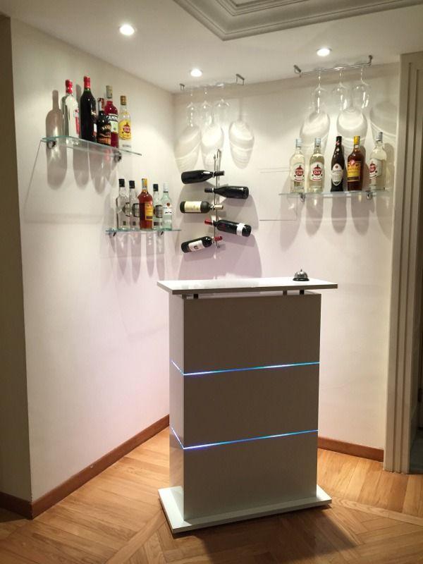 Angolo Bar In Casa Moderno.Mobile Bar Per Casa Moderno In Bianco Laccato Lucido Idee