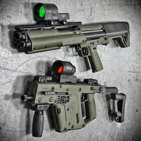 The Kel-Tec KSG 12 and the Kriss Vector