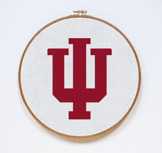 60 best sports cross stitch patterns images on pinterest dots indiana hoosiers cross stitch pattern pdf download fandeluxe Gallery