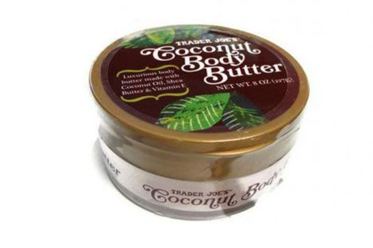 8 Trader Joe's Beauty Products That Are Actually Amazing #refinery29  http://www.refinery29.com/best-trader-joes-beauty-products#slide8  We'd do anything to be on a tropical vacation right now, and this coconut-scented body butter comes close to making that a reality — while providing soft, supple skin.   Trader Joe's Coconut Body Butter, $4.99, available at Trader Joe's locations.