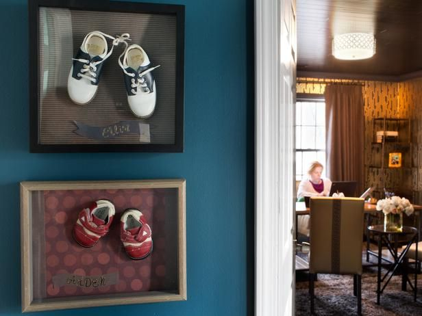 Make a Shadowbox Baby Shoe Display : Decorating : Home & Garden Television