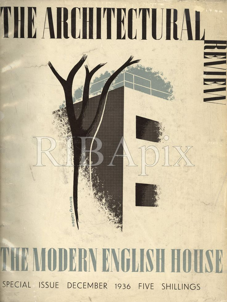 The Architectural Review's 'The Modern English House' (1936) celebrated and promoted modernist building in England between the wars. KR [RIBA45472]