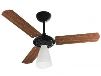 Ventilador de Teto Ventisol Wind Light 3 Pás - Mogno para 1 Lâmpada