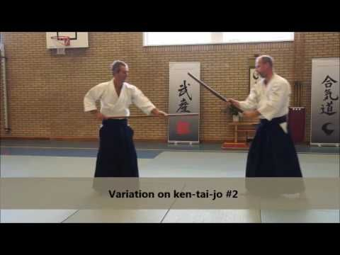 Aikido Techniques TAKN: KEN TAI JO   Part 2 ~ # 1-3 + variations