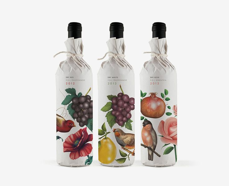 Pure Drops wine & food product packaging and illustration by Bob Studio.