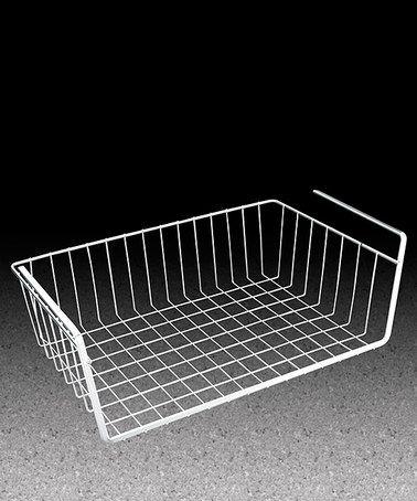 Another great find on #zulily! Medium White Polytherm®-Coated Under-Shelf Basket #zulilyfinds