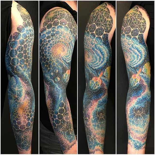 56 best space tattoo images on pinterest art tattoos for Outer space tattoo design