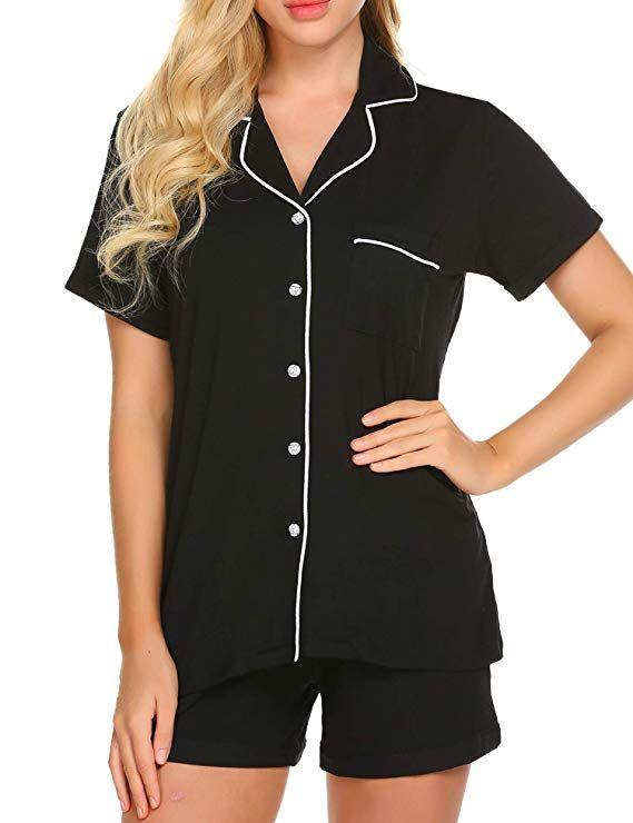 b694c2a8f5 Ekouaer Pajamas Women s Short Sleeve Sleepwear Soft Pj Set XS-XXL -  Blogging ERA