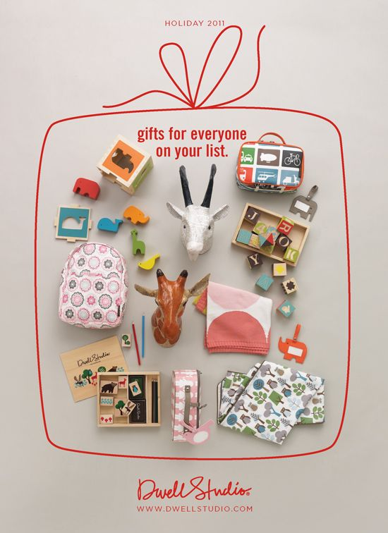 #bywstudent - love how the background becomes part of the composition Holiday 2011 Catalogue (via Dwell Studio).