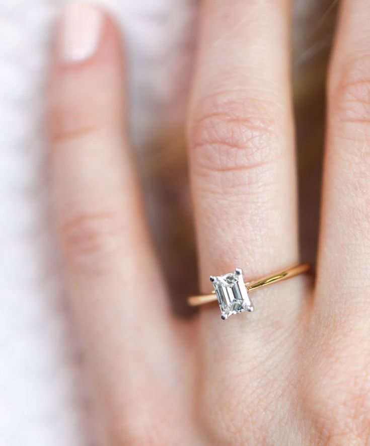 We're going wild over Emerald Cut engagement rings right now. Did you know that Emeralds are the largest looking shape of ALL the main diamond shapes? See more here: https://www.instagram.com/goodstone_inc/