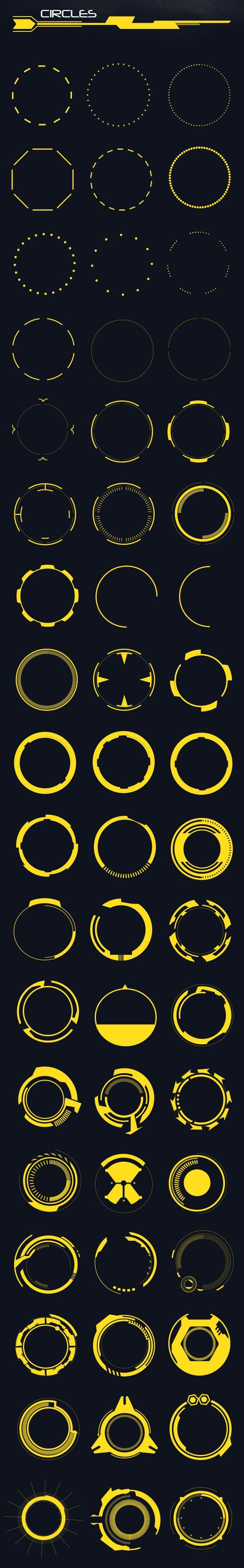 60 Hi-Tech Circles (Custom Shapes)