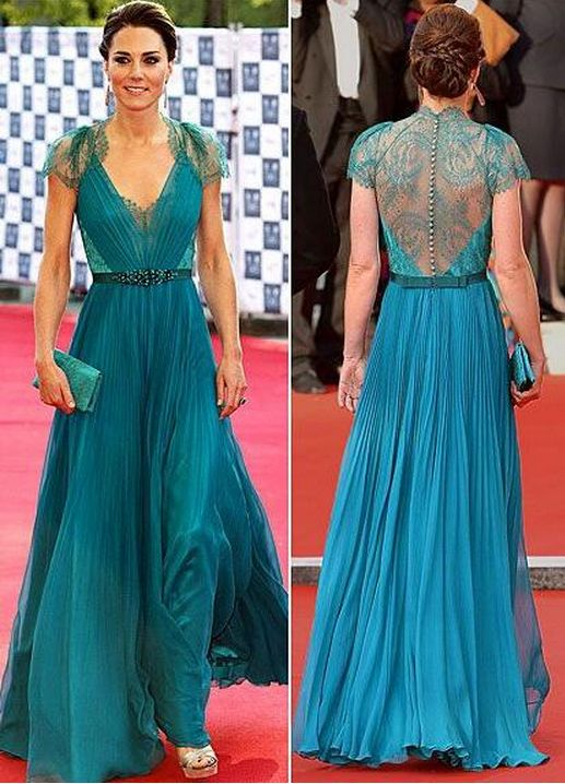 Long Cap Sleeves Prom Dresses,Lace Prom Dress,Teal Lace Bridesmaid Dresses,A line Sexy Open Back Evening Dress