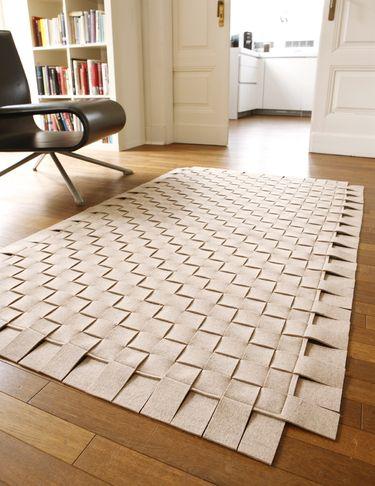 felt carpet -wonder if I could weave my own rug