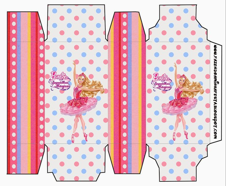 Barbie Magic Shoes: Free Printable Boxes.