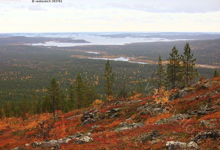 Näkymä Otsamotunturilta - Inarijärvi