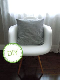 Revive Your Space With a Homemade Pillow Cover - no zipper