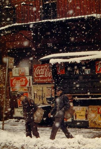 I just can't get over Saul Leiter's use of the color red. Must learn how to replicate / approximate it in Lightroom.