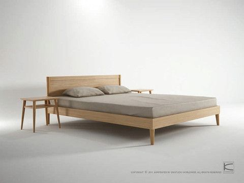 King Bed in Oak