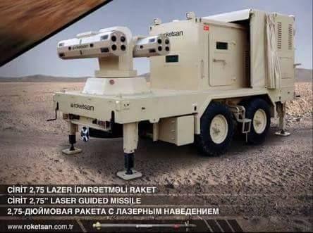 Dünyanın ilk lazer güdümlü-roket-füzesi CİRİT. Silah ve Teknolojileri.