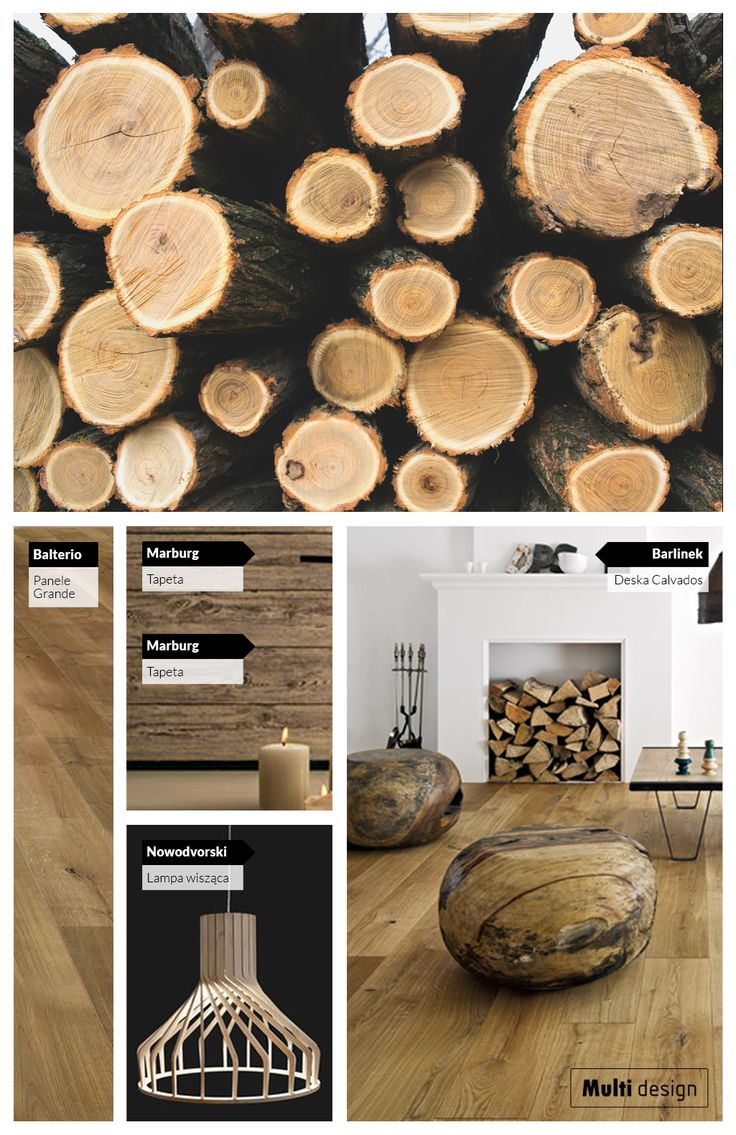 Pomysł na rustykalne wnętrza inspirowane drewnem.