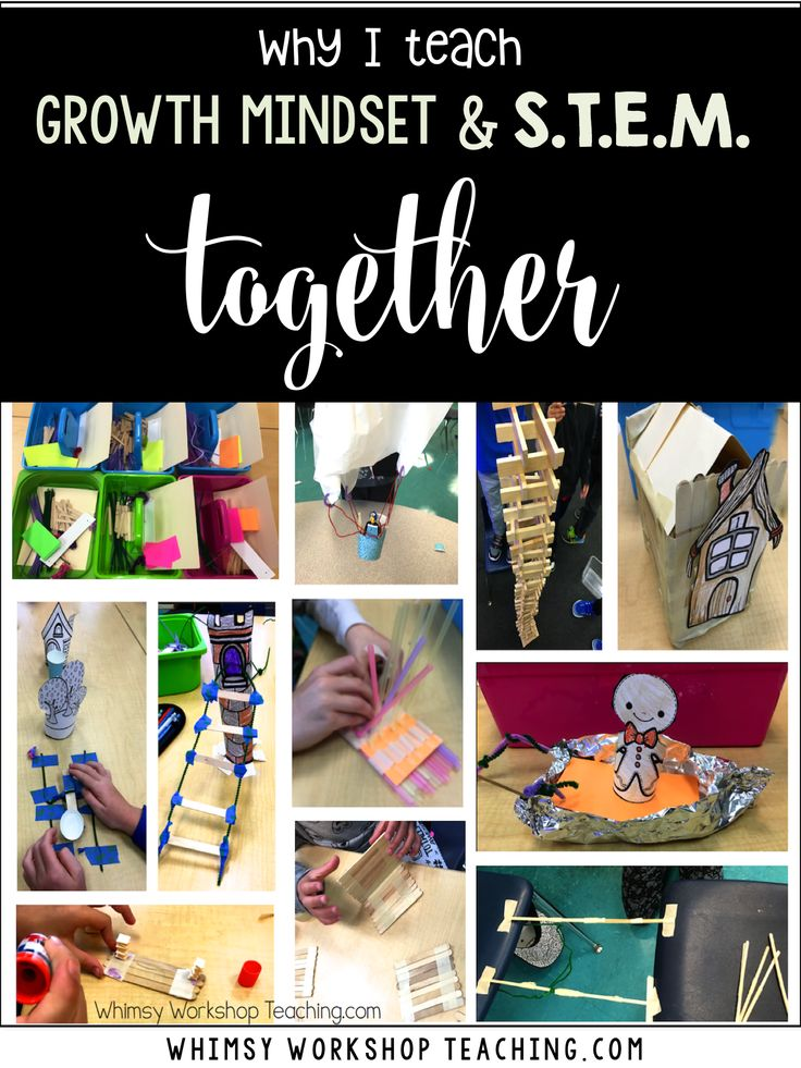 STEM and growth mindset are essential to each other, so why not teach them together? See pictures from my classroom and download a free set of STEM posters