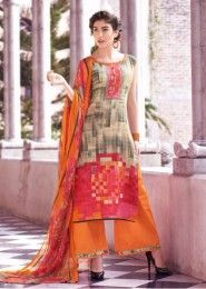 Casual Wear Cotton Multi Colour Printed Plazzo