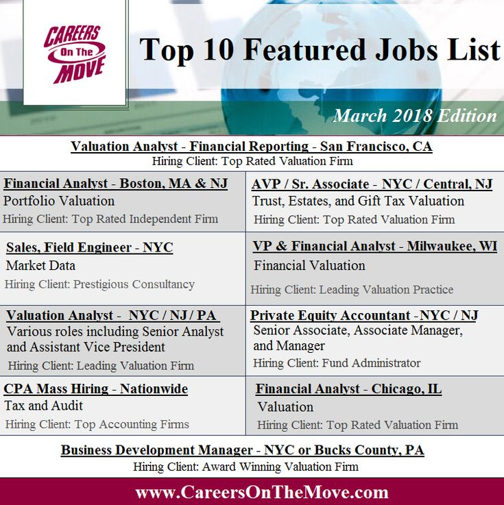 View These Jobs And More By Clicking The Link Careers Finance Valuation Accounting Business Finance Jobs Finance Career List Of Jobs