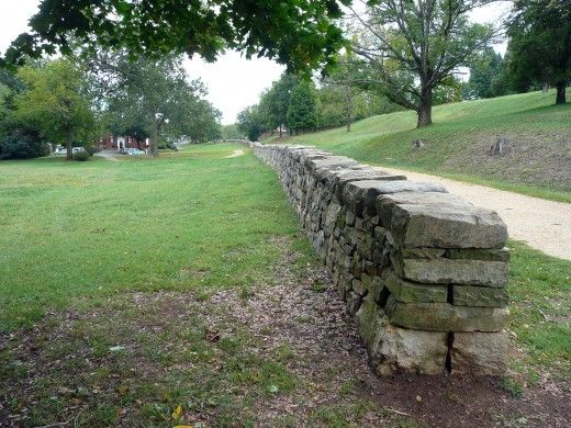 The old stone wall in fredericksburg virginia where 3000 confederate