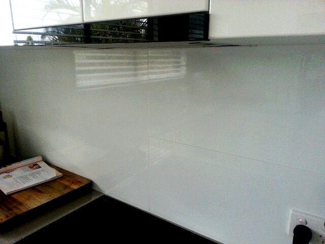 Huge rectangular tiled splashback-high gloss