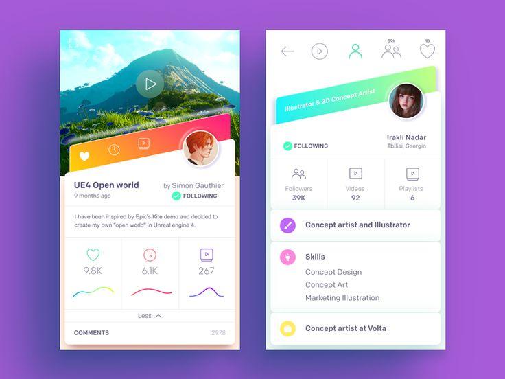 Video Sharing App by Moatasem Kharazz #Design Popular #Dribbble #shots