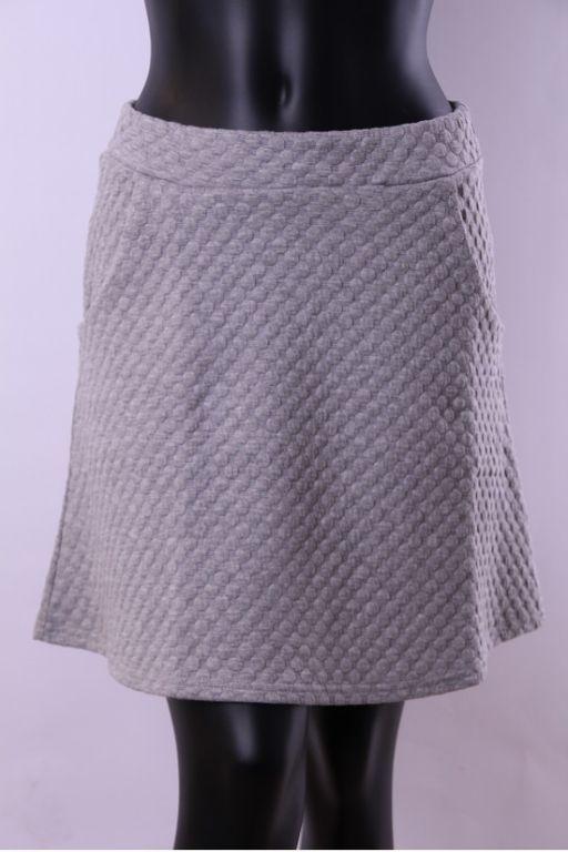ICHI Mita Skirt Grey Melange - Kjoler/nederdele - MaMilla
