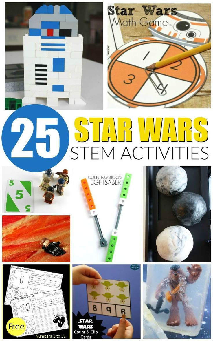 Awesome Star Wars STEM activities for kids! Tons of hands-on science, technology, engineering and math projects with Star Wars.