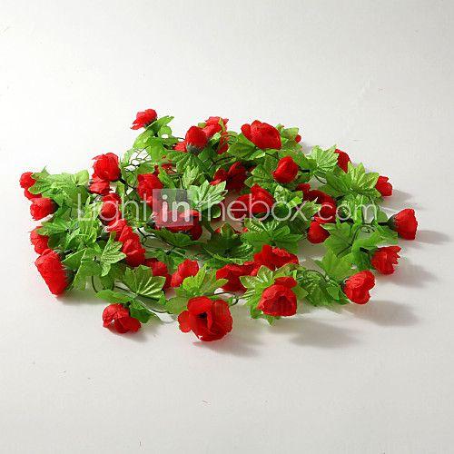bruiloft decor 2m (6.5ft) rode roos wijnstok decoratie - EUR € 8.81