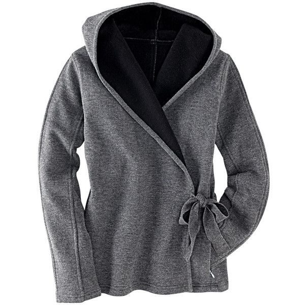 Wrap-It-Up Hooded Sweater - New Winter Arrivals - Tops - Tit... - Polyvore