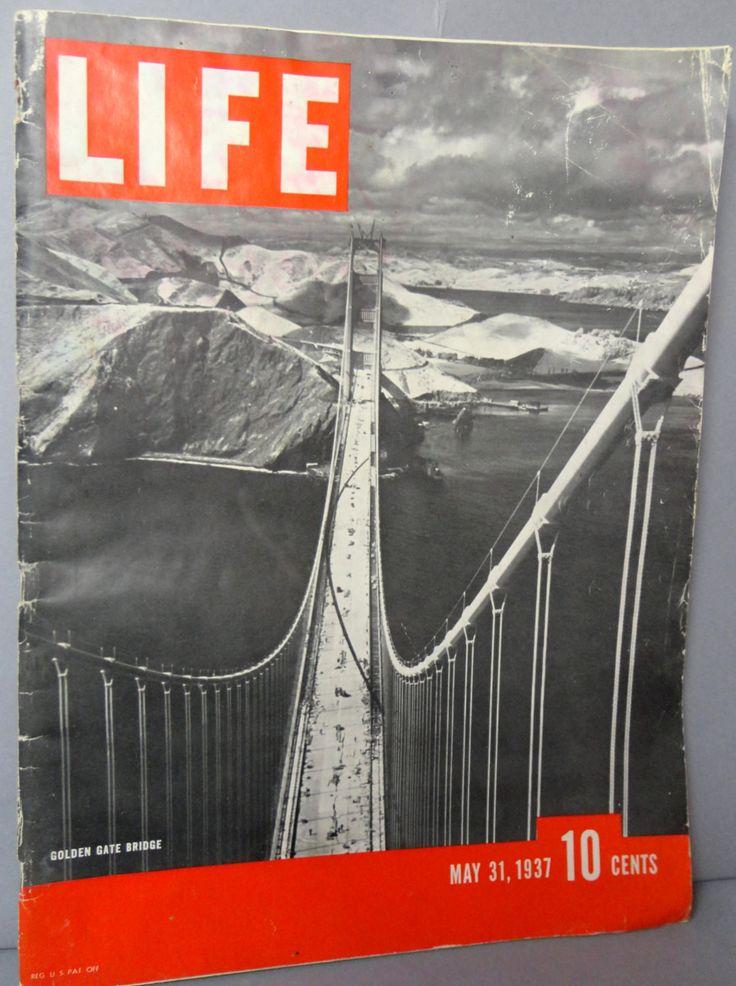 LIFE Magazine May 31 1937 George VI Coronation Golden Gate Bridge Horse Jumping Helen Hayes Censorship Minsky BURLESQUE Ford fights Unions