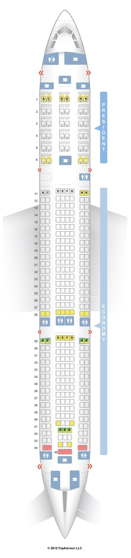 SeatGuru Seat Map Aeroflot Airbus A330-300 (333)