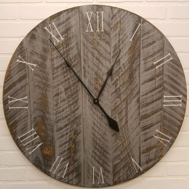 """Shop now for large rustic wall clocks. Beautiful handcrafted wall clocks.  Finished to a distressed barn wood look. Many colors and sizes available.  18"""" to 42""""."""