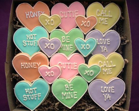 Message Heart Cookies